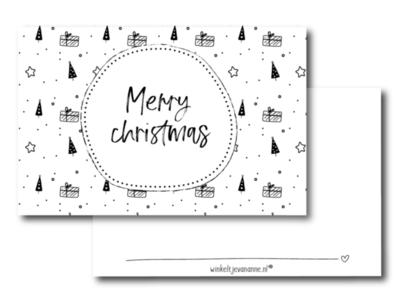 Mini kaartje Merry Christmas
