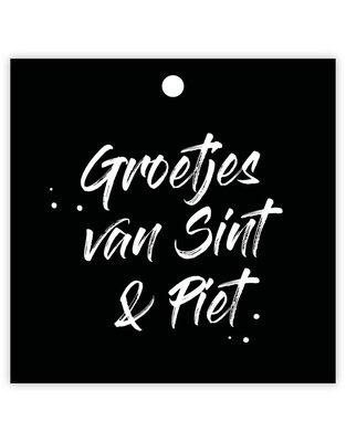 Cadeaulabel Groetjes van Sint & Piet