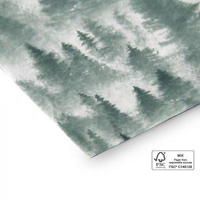 Vloeipapier X-mas forest