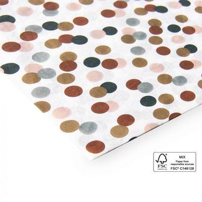 Vloeipapier Multi dots