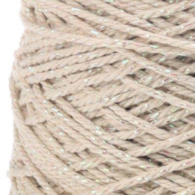 Cotton cord Irisé creme parelmoer roll