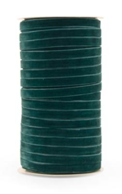 Velvet ribbon 9mm Petrol