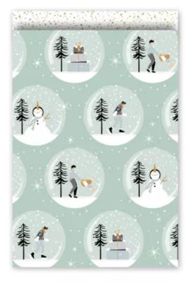 Cadeauzakjes Magical Christmas mint/goud 17 x 25