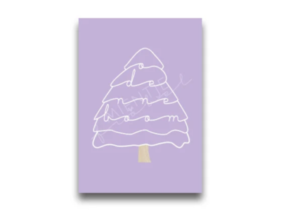 Ansichtkaart O denneboom lila