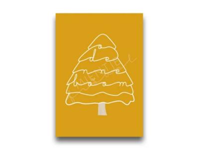 Ansichtkaart O denneboom oker
