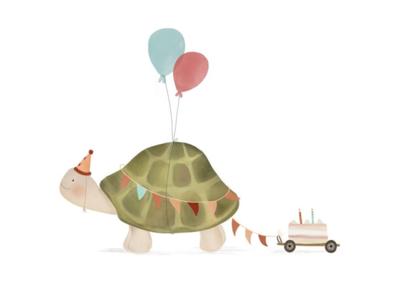 Wenskaart Schildpad
