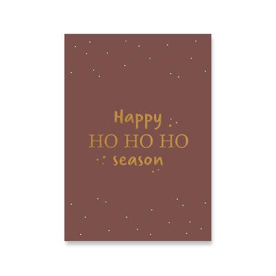 Ansichtkaart Happy HO HO HO season