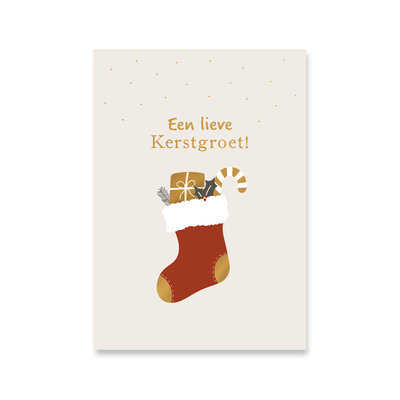 Ansichtkaart Kerstsok