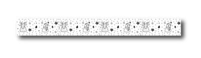 Masking tape Sneeuwpopjes en rendiertjes