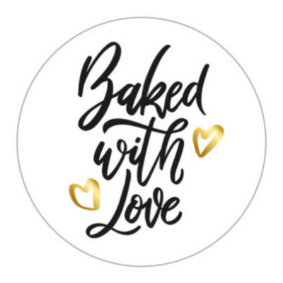 Sticker Baked with love