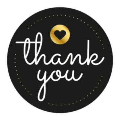 Sticker Thank you (black)