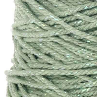 Cotton cord Irisé mint parelmoer roll