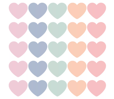 Sticker hart xl pastel assorti
