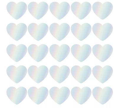 Sticker hart xl holografisch