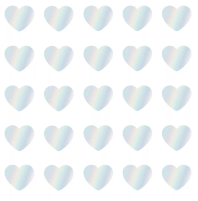 Stickers Mini hearts holografisch