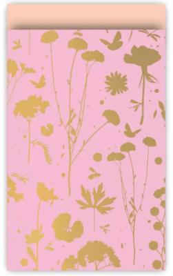 Cadeauzakjes Grow roze/goud/peach 12 x 19