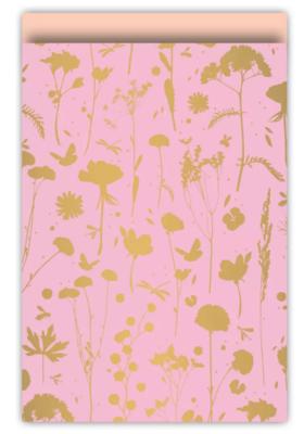 Cadeauzakjes Grow roze/goud/peach 17 x 25