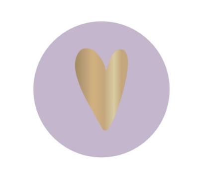 Sticker Heart lila