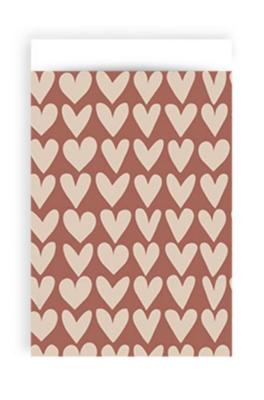 Cadeauzakjes Love red/beige 12 x 19