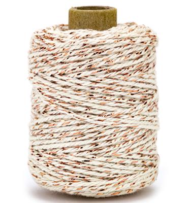 Cotton cord cream/copper roll