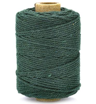 Cotton cord dark green roll