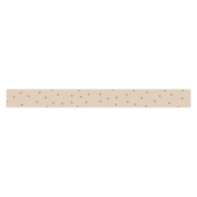 Krullint Dots gold/beige