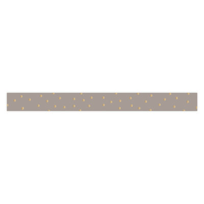 Krullint Dots gold/taupe