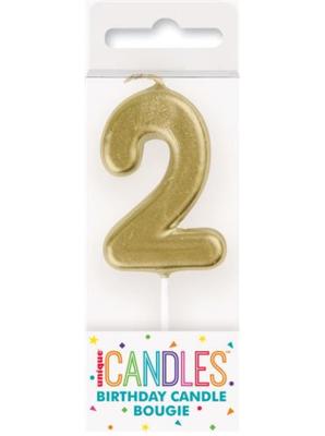 Cijferkaars '2' goud