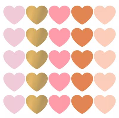 Sticker hart xl multicolor assorti