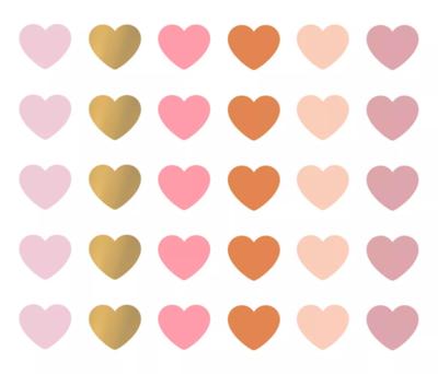 Stickers Mini hearts multicolor assorti