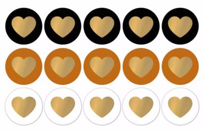 Sticker Lovely hearts perfect basics/gold