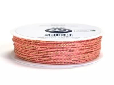 Cotton cord koraalroze/goud