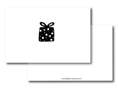 Mini kaartje cadeautje