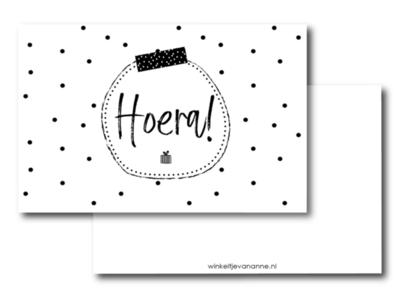 Mini kaartje Hoera!