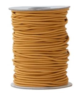 Elastic band Caramel fudge 3mm