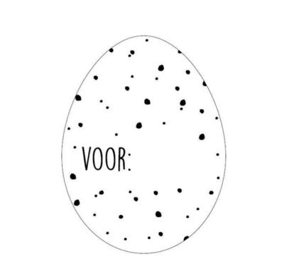 Sticker Ei Voor: