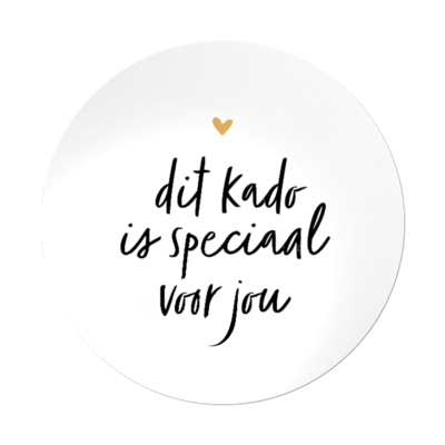 Sticker Dit kado is speciaal voor jou