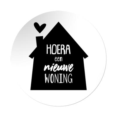 Sticker Hoera een nieuwe woning