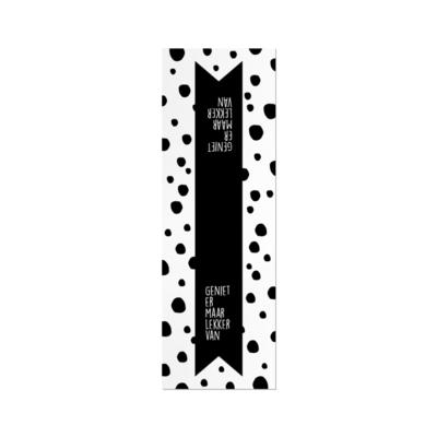 Sticker label XL geniet er maar lekker van