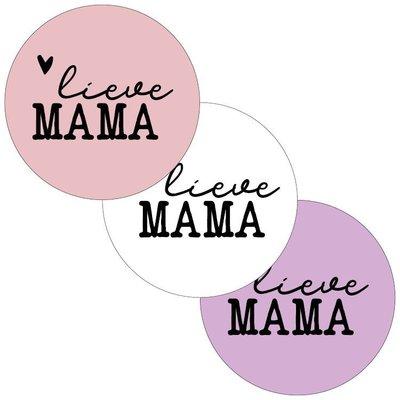 Sticker Lieve mama assorti