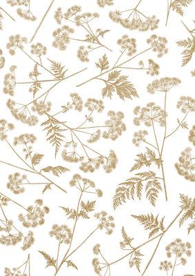 Vloeipapier Dotted wildflower gold