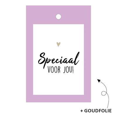 Cadeaulabel Speciaal voor jou lila