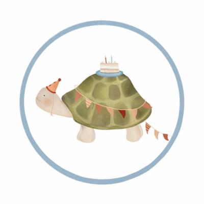 Sticker Schildpad (groot)