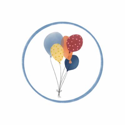 Sticker Ballonnen (groot)