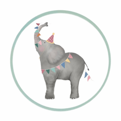 Sticker Olifant (groot)