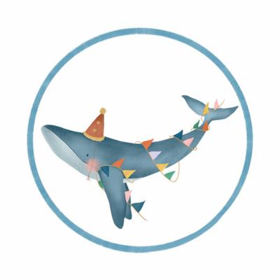 Sticker Walvis (groot)