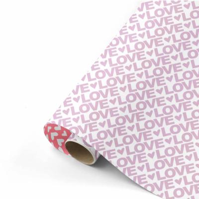 Cadeaupapier Love letters lila/neon