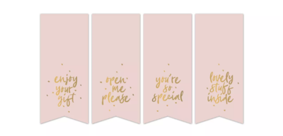 Stickers Vaantje sweet message roze