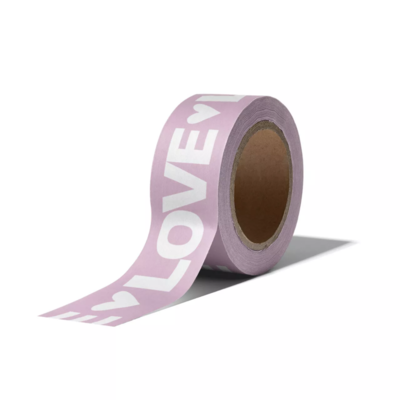 Masking tape Love letters lila/wit