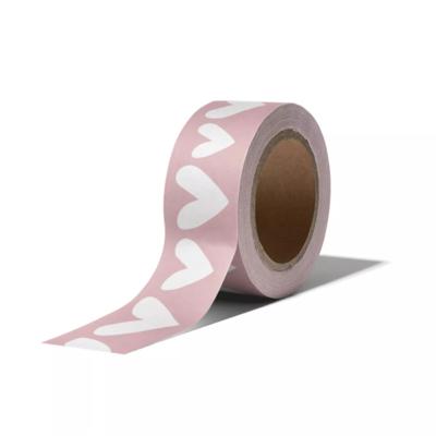 Masking tape Ethnic hearts roze/wit